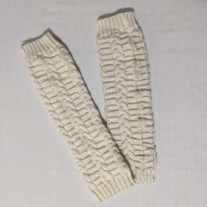 Steve Madden Ivory Cable Knit Leg Warmers Cuffs
